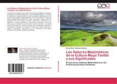 Portada del libro de Los Saberes Matemáticos de la Cultura Maya Tseltal y sus Significados