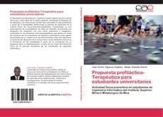 Couverture de Propuesta profiláctico-Terapéutica para estudiantes universitarios