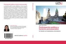 Portada del libro de Participación política y factores psicosociales