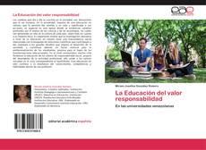 La Educación del valor responsabilidad kitap kapağı