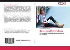 Portada del libro de Deserción Universitaria
