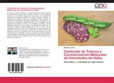 Capa do livro de Contenido de Taninos y Caracterización Molecular de Variedades de Haba