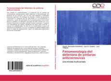 Copertina di Fenomenología del deterioro de pinturas anticorrosivas