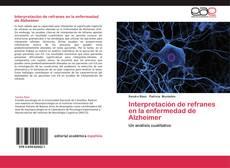 Portada del libro de Interpretación de refranes en la enfermedad de Alzheimer