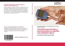 Bookcover of Variables personales y psicosociales en adultos con diabetes tipo 2
