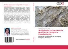 Capa do livro de Análisis del proceso de la gestión de riesgos a inundaciones
