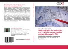 Capa do livro de Metodología de rediseño curricular en contenidos matemáticos del CIU