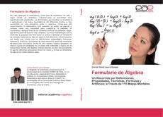 Formulario de Álgebra kitap kapağı