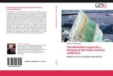 Capa do livro de Variabilidad espacial y temporal del hielo marino antártico