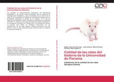 Portada del libro de Calidad de las ratas del bioterio de la Universidad de Panamá