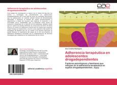Portada del libro de Adherencia terapéutica en adolescentes drogadependientes