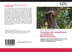 Bookcover of Inventario de mastofauna en Cubarral, Meta/Colombia