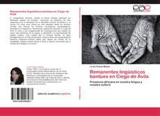 Capa do livro de Remanentes lingüísticos bantúes en Ciego de Ávila