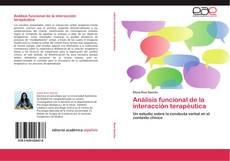 Capa do livro de Análisis funcional de la interacción terapéutica