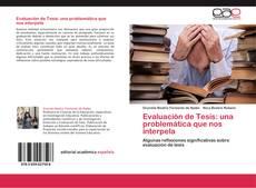 Evaluación de Tesis: una problemática que nos interpela kitap kapağı