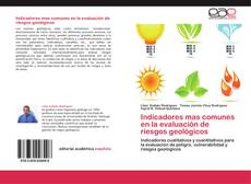 Capa do livro de Indicadores mas comunes en la evaluación de riesgos geológicos