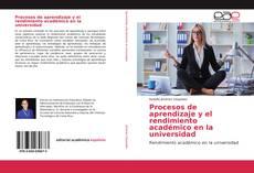 Buchcover von Procesos de aprendizaje y el rendimiento académico en la universidad