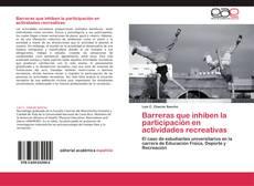 Bookcover of Barreras que inhiben la participación en actividades recreativas