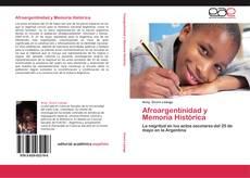 Afroargentinidad y Memoria Histórica kitap kapağı