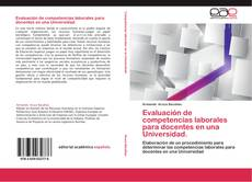 Portada del libro de Evaluación de competencias laborales para docentes en una Universidad.