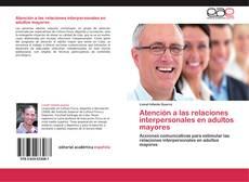 Buchcover von Atención a las relaciones interpersonales en adultos mayores