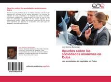 Portada del libro de Apuntes sobre las sociedades anónimas en Cuba