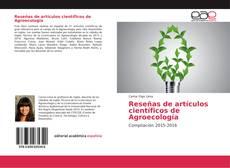 Portada del libro de Reseñas de artículos científicos de Agroecología