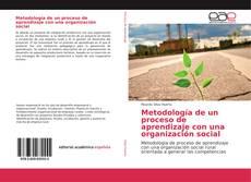 Portada del libro de Metodología de un proceso de aprendizaje con una organización social