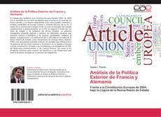 Copertina di Análisis de la Política Exterior de Francia y Alemania