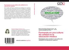 Formando en una cultura de calidad en la educación médica kitap kapağı