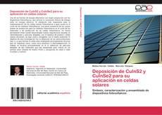 Buchcover von Deposición de CuInS2 y CuInSe2 para su aplicación en celdas solares