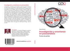 Обложка Investigación y enseñanza en psicoanálisis