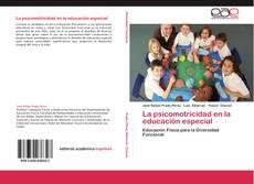 Bookcover of La psicomotricidad en la educación especial
