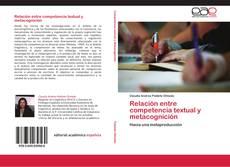 Portada del libro de Relación entre competencia textual y metacognición