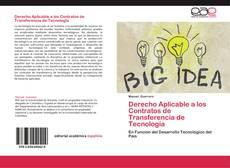Bookcover of Derecho Aplicable a los Contratos de Transferencia de Tecnología