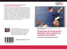 Couverture de Propuesta de Evaluación Docente para mejorar la práctica educativa