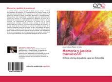 Portada del libro de Memoria y justicia transicional