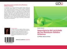 Portada del libro de Importancia del reciclado de los Residuos Sólidos Urbanos