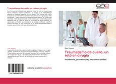 Capa do livro de Traumatismo de cuello, un reto en cirugía