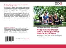 Portada del libro de Modelos de Formación para la Investigación en Seminarios de Tesis