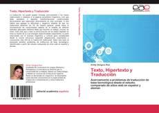 Capa do livro de Texto, Hipertexto y Traducción
