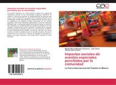 Bookcover of Impactos sociales de eventos especiales percibidos por la comunidad