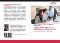 Buchcover von Lineamientos para una Didáctica en Computación