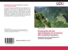 Bookcover of Evaluación de los aprendizajes en el marco del continuo humano