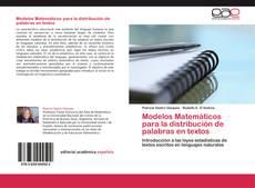 Portada del libro de Modelos Matemáticos para la distribución de palabras en textos
