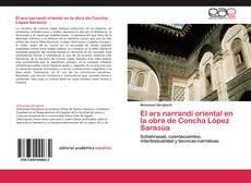 Capa do livro de El ars narrandi oriental en la obra de Concha López Sarasúa