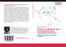 Portada del libro de Criterios y Métodos para la evaluación de la Competencia Léxica