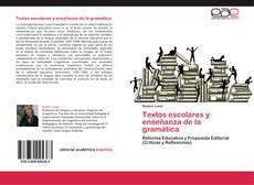 Textos escolares y enseñanza de la gramática kitap kapağı