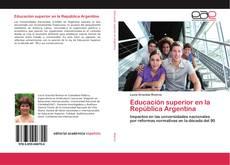 Borítókép a  Educación superior en la República Argentina - hoz
