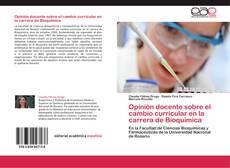 Borítókép a  Opinión docente sobre el cambio curricular en la carrera de Bioquímica - hoz